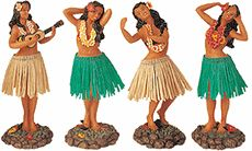 Dashboard Hula Girl Set