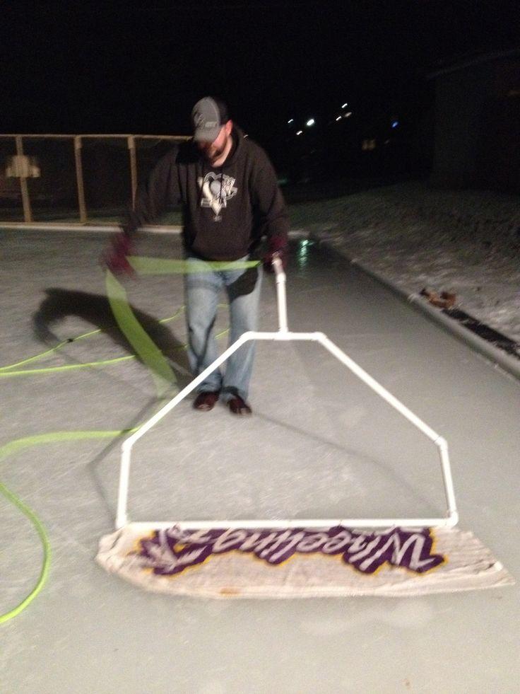 Home boni Zamboni for our backyard ice rink