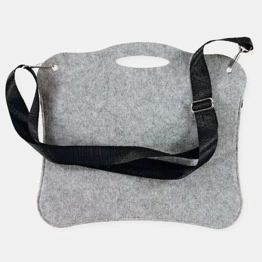 Kit filt taske 40x30 cm lys grå melange - STOFF & STIL