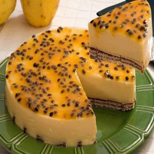 Aprenda a fazer uma Torta Mousse de Maracujá Diferente!