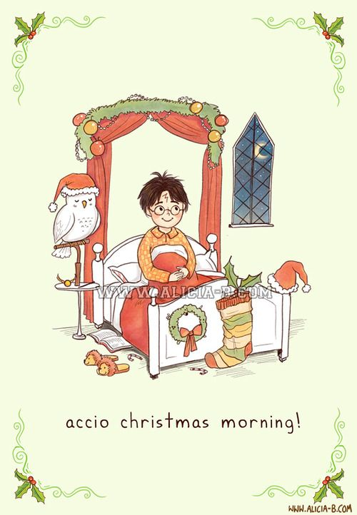 Accio Christmas Morning!You can buy this Christmas card at Red Bubble, here! Part of my fandom Christmas Card series - you can see the rest on RedBubble here! Others include Star Wars, Doctor Who, Hunger Games, The Avengers and Lord of the Rings. Enjoy!
