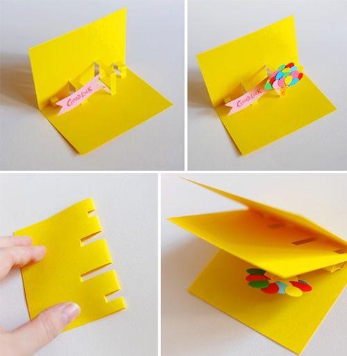 trucos para hacer tarjetas sorpresa
