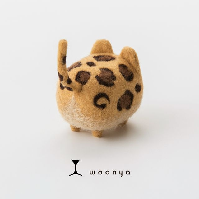 woonya【leopard】 猫/cat/羊毛フェルト/Needle Felting