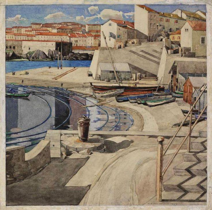 "Charles Rennie Macintosh - ""The Little Bay, Port Vendres,"" 1927"
