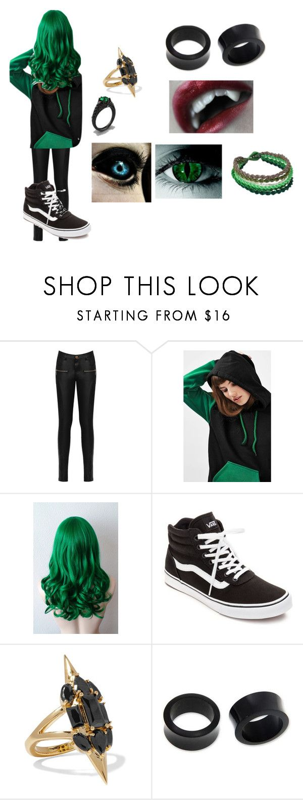 """""""Anti Cosplay (Antiseptiplier Part 1"""" by not-a-stalker-sam ❤ liked on Polyvore featuring WearAll, Topshop, Vans, Noir Jewelry and NOVICA"""