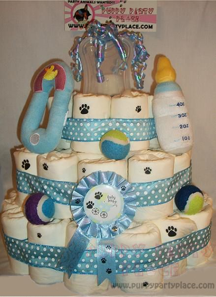 Baby Shower Cakes Bad Taste ~ Its a boy blue puppy shower cake puppypartyplace