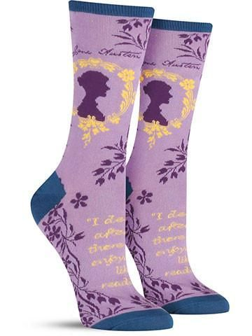 These colorful author socks are perfect for the literary goddess in you. If Pride and Prejudice is one of your favorite novels and Emma stole your heart the first time you read it, treat yourself to t