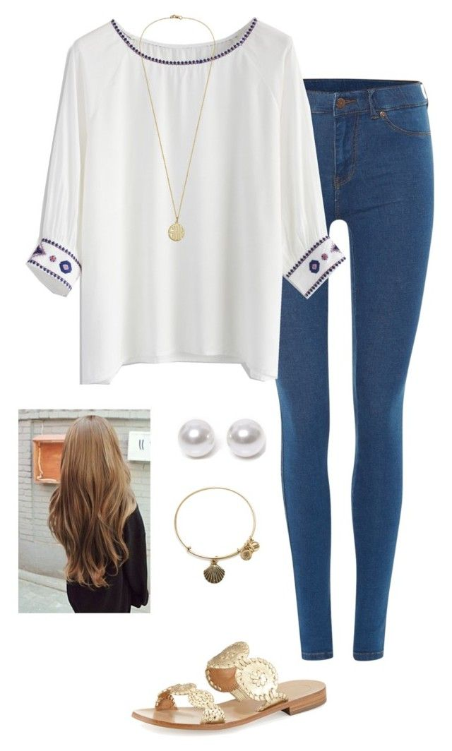 """""""sorry I haven't posted in a while!"""" by gabbbsss ❤ liked on Polyvore featuring Dr. Denim, Chicwish, Jack Rogers, Nouv-Elle and Alex and Ani"""