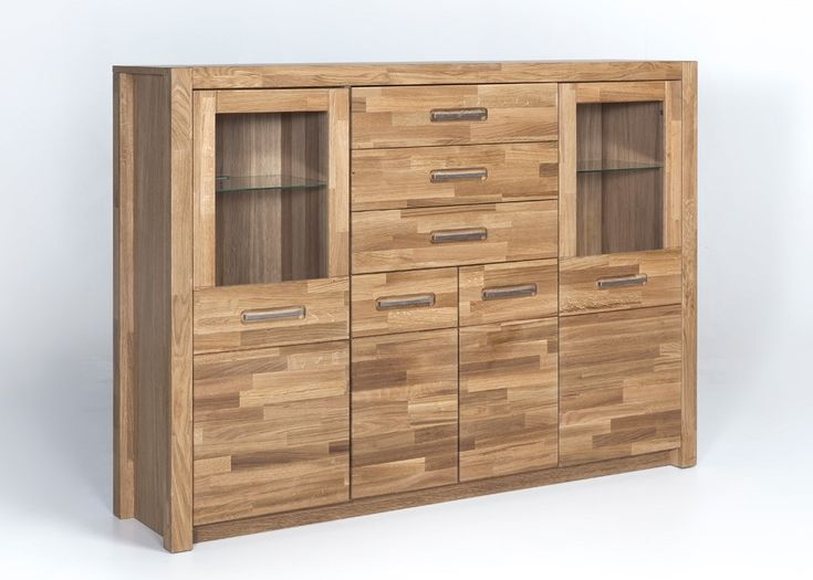 Highboard Massiv Fenja Anrichte Wohnzimmerschrank Holz Wildeiche 22192 Buy Now At