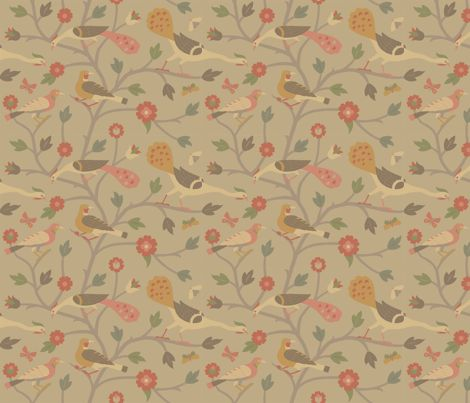 [Napkins] PersianBirds613a fabric by muhlenkott on Spoonflower - custom fabric