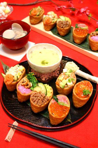 Party Inarizushi, Deep-fried Tofu Porch Sushi 稲荷寿司