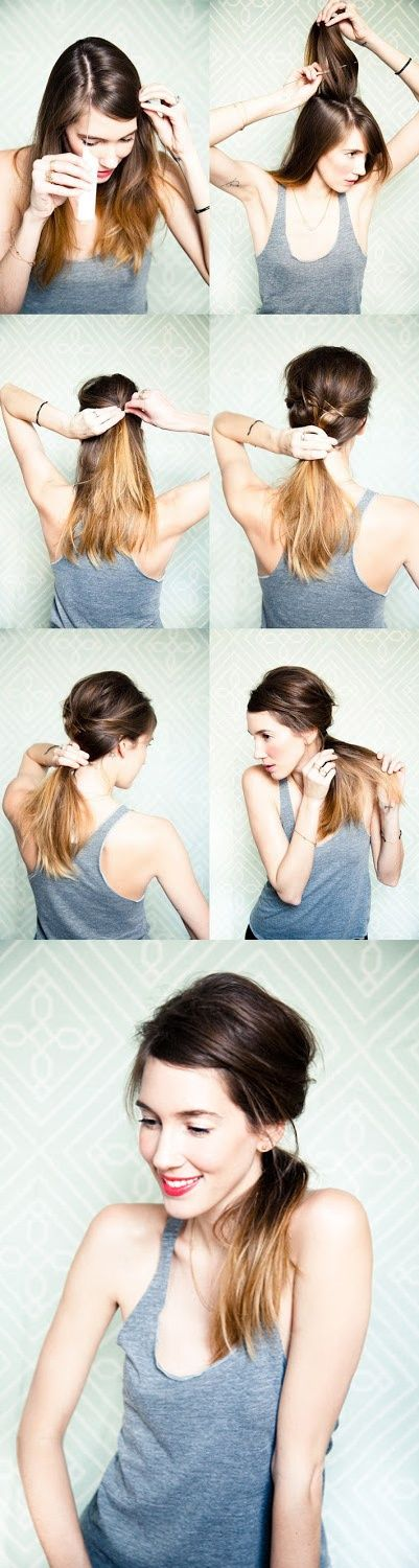 Romantic Messy Side Ponytail