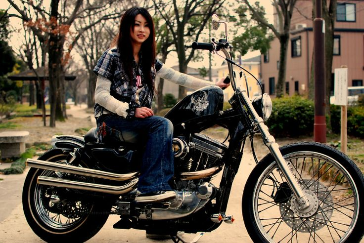 Asian On Motorcycle 79