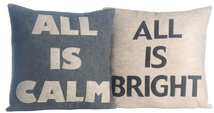 2 Piece All is Calm/All is Bright Throw Pillow Set