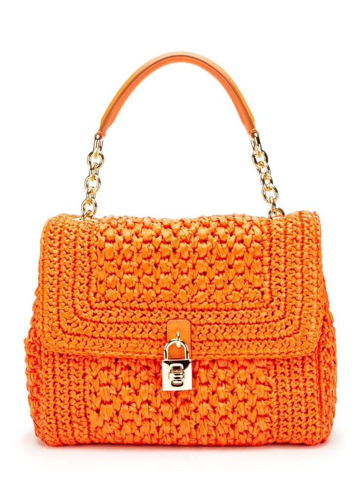 Medium Straw Padlock Dolce Satchel by Dolce & Gabbana -- another weaving goal/idea