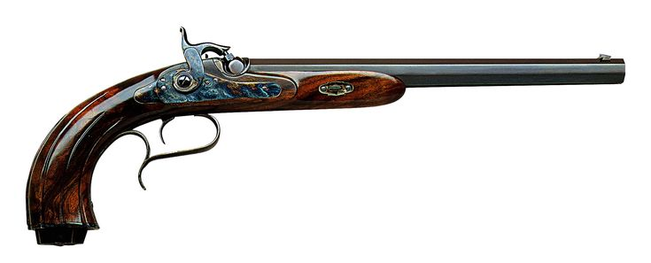 Kuchenreuter Standard .38 or .44 Caliber Percussion    Bartholomaus Joseph Kuchenreuter lived between 1782-1864 in Steinweg, near Regensburg, in Germany. He was the son of Joseph II very well known as a highly acknowledged and skilled gunmaker and, in addition, as a very good successful black powder shooter. This explains the excellent shooting characteristics of this pistol, such as the size and shape of the grip. This splendid reproduction target pistol, whose original model was produced…