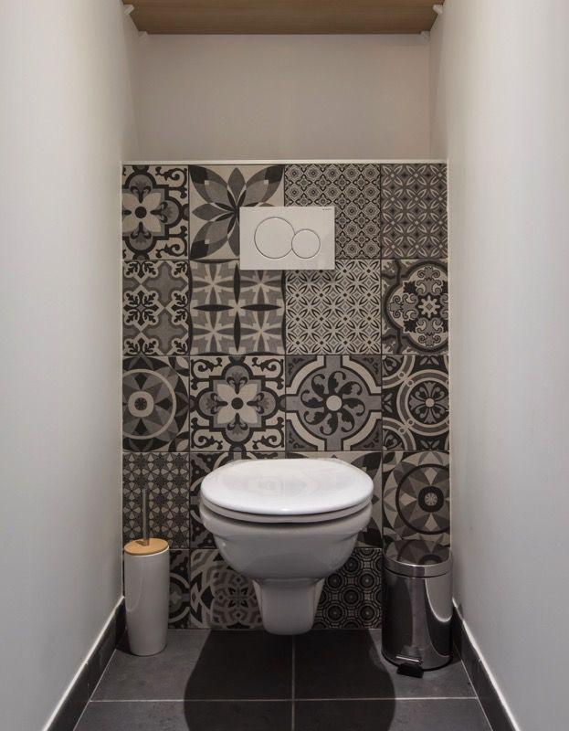 wc suspendu en effet carreaux de ciment