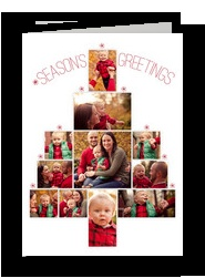 CardStore.com is AWESOME!! Today only 30 cents each for Christmas Photo Tree 5x7 Folded Card. They printed the outside, inside and back and even have free shipping! (This is not an advertisement, I'm just so impressed!)
