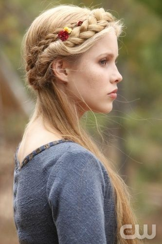 Gorgeous braids! Claire Holt of The #VampireDiaries