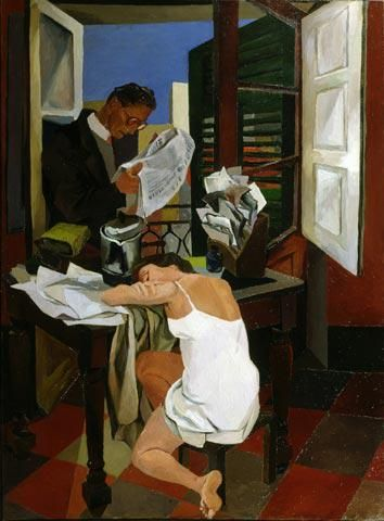 """All the world's a stage and most of us are desperately unrehearsed."" (Seán O'Casey) Art: Renato Guttuso"