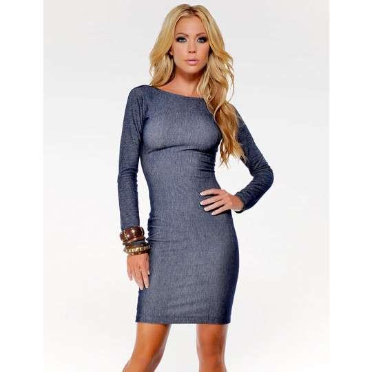 ouu I want!! full sleeve denim and scoop back dress!