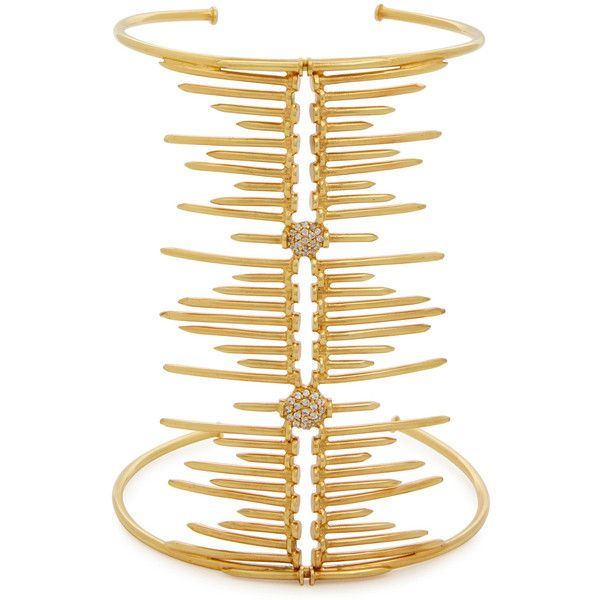 Joanna Laura Constantine Screw-embellished gold-plated cuff ($540) ❤ liked on Polyvore featuring jewelry, bracelets, gold plated bangles, gold plated jewellery, cuff jewelry, joanna laura constantine jewelry and cuff bangle