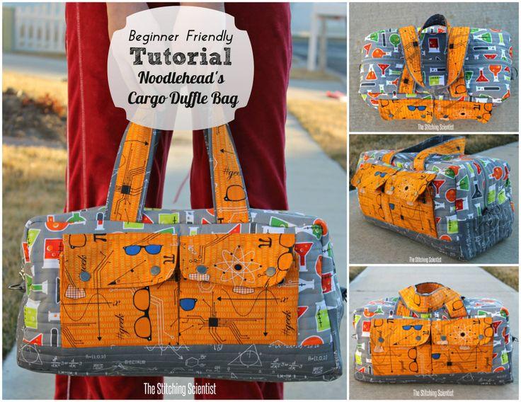 Beginner Friendly Tutorial on Noodlehead Cargo Duffle Bag #cargodufflebag