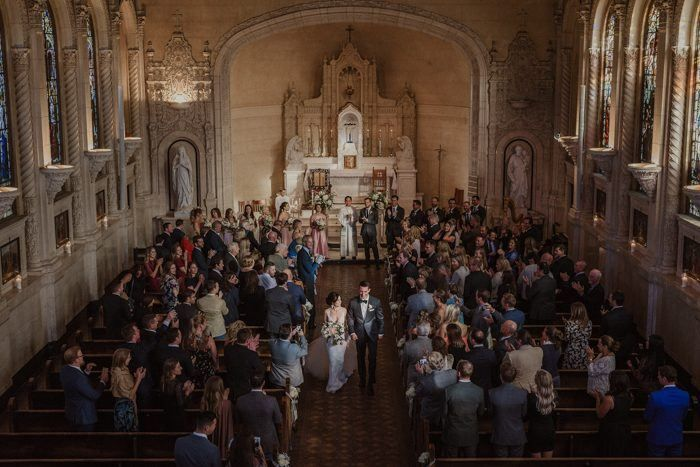 We're Obsessing Over These Joyful and Sweet Wedding Recessional Photos | Junebug Weddings