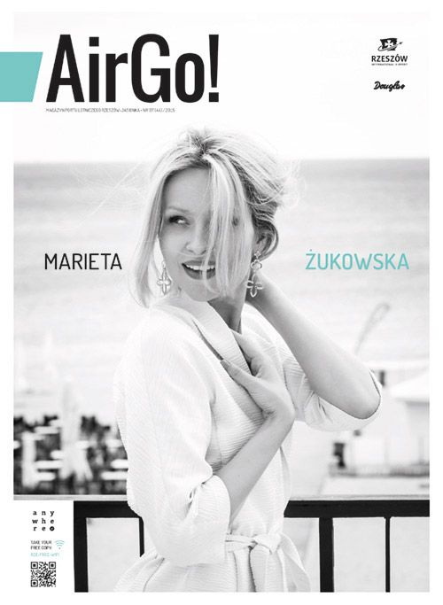 Okładka magazynu Air Go 7/2015  Marieta Żukowska fot. Monika Szałek