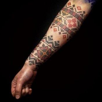 Tatuaje brazalete bordado                                                                                                                                                                                 Más