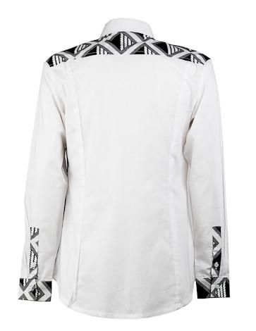 men's black and white shirt ohema ohene back view