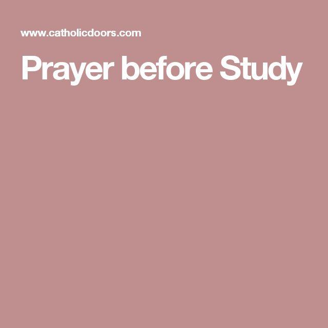 Prayer before Study