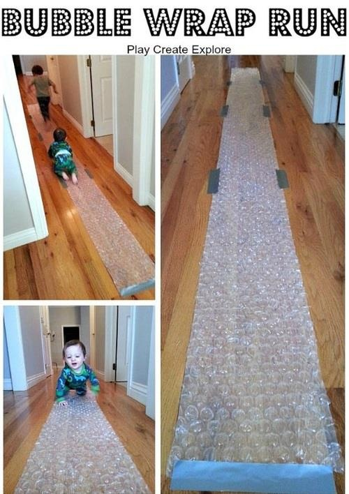 Bubble Wrap Run! Best parents ever!!!!!
