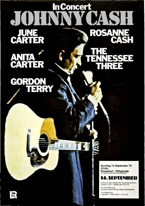 johnny cash concert poster germany 1975 100 mint unused condition well discounted price. Black Bedroom Furniture Sets. Home Design Ideas