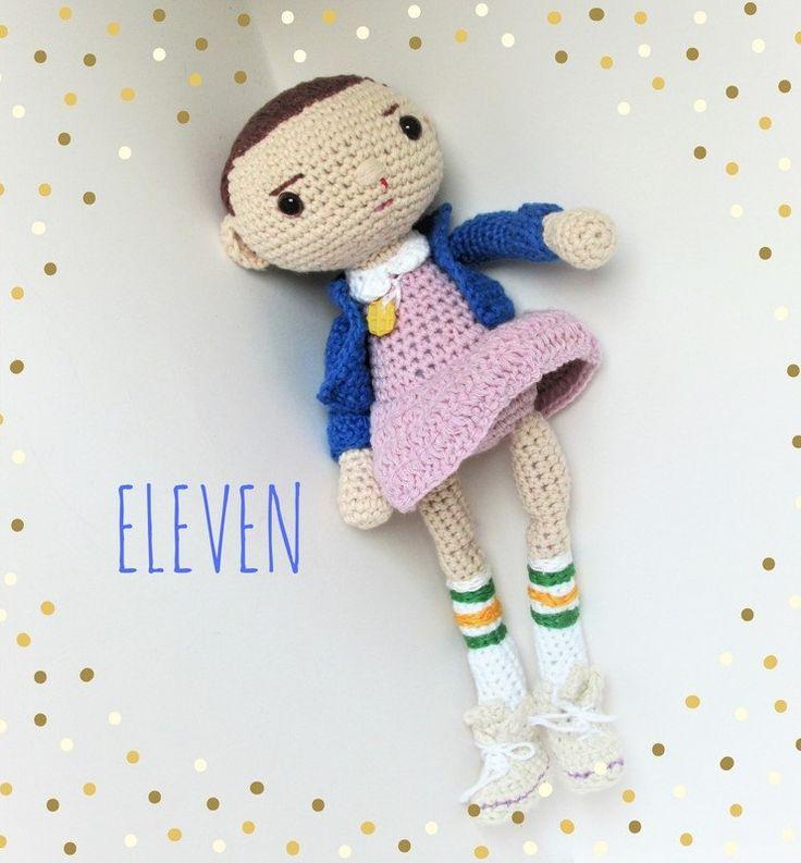 Amigurumi cotton Eleven doll by cottonandjute on Etsy