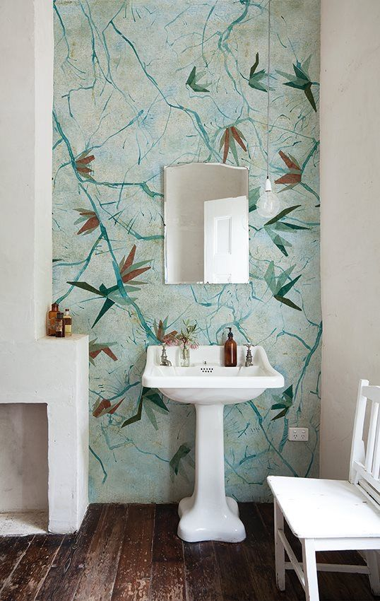 Wallpaper Your Bathroom With This Patented Waterproof Augusta By Wall And Deco