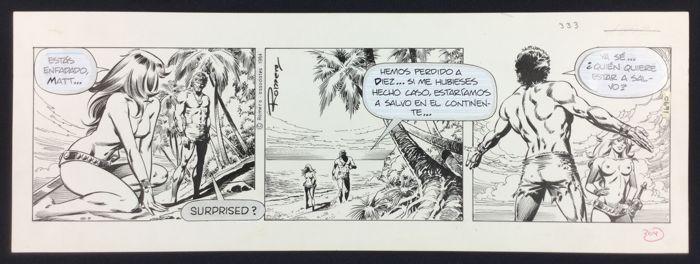 Romero Enrique Badia - originele strip - Axa - (1984)  Strip # 2690 geplaatst op 19 januari 1984.Potlood en inkt op kaart voorraad grootte: 51 x 18 cmIn nieuwstaat  EUR 175.00  Meer informatie