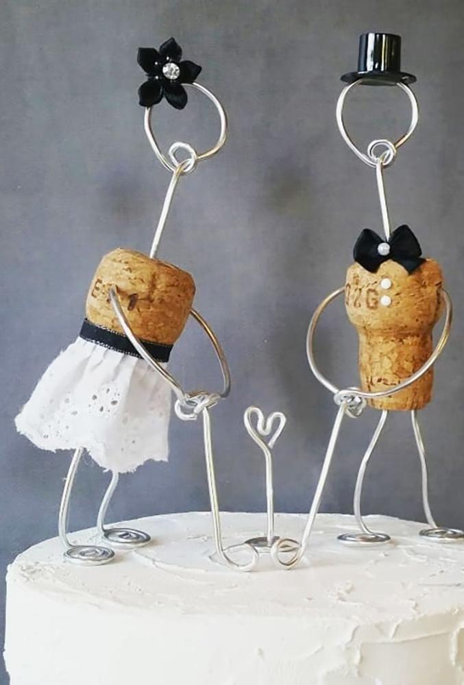 unique wedding cake toppers diy bride groom corkyfriendz