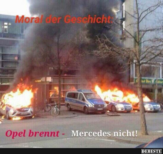 Opel brennt - Mercedes nicht! | DEBESTE.de, Lustige Bilder, Sprüche, Witze und Videos