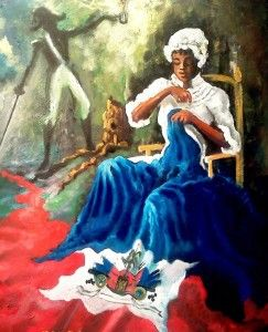 HAITI  HAITIAN HEROE Catherine Flon, the seamstress who sew our first flag