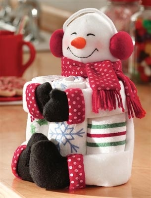 Snowman Kitchen Towel Gift Set....<3