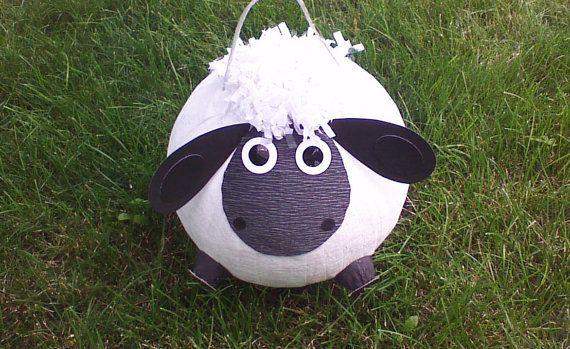 Black Lamb Pinata.  Sheep Pinata by PinataPals on Etsy