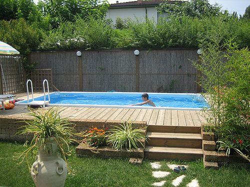 Oltre 25 fantastiche idee su piscine fuori terra su pinterest piscina interrata e patio per - Piscina fuori terra interrata ...