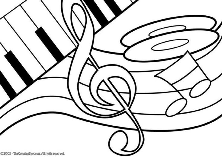musical instruments coloring pages for kids