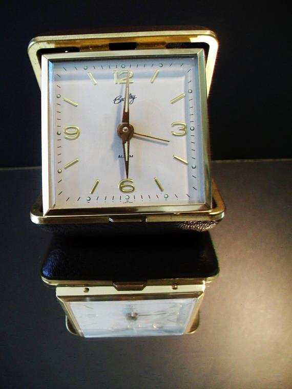 Vintage Brown Bradley Travel Alarm Clock Retro Japan