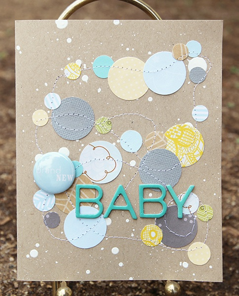 Super cool card to make with scraps! Cool idea for scrapbook page with vellum pockets