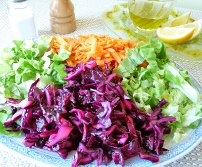 Seasonal Ontario Food: Turkish Red Cabbage Salad