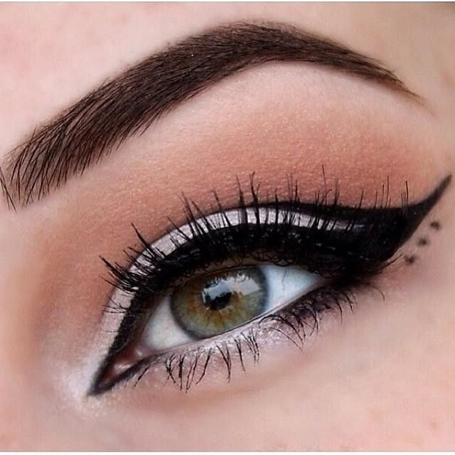 Liquid Liner ✨Makeup by @megsmakeupxo ✨NYX Cosmetics Jumbo Eye Pencil  in 'Milk'