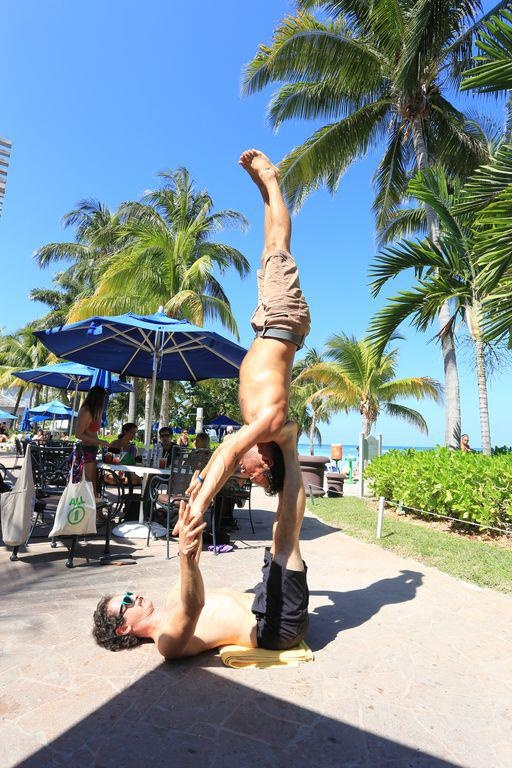 """""""The joy of watching one soul fly in connection with another."""" See more photos from the Caribbean Yoga Conference here: https://www.facebook.com/CaribYogaConf"""