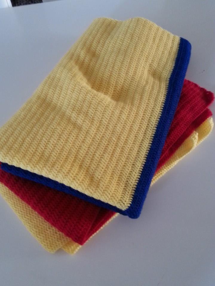 Throw Afghan Colombian flag 160x200cm Crochet